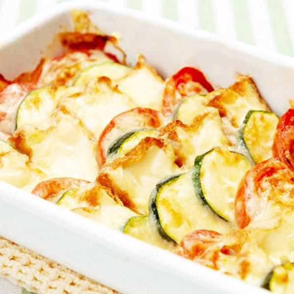 厚揚げと夏野菜のチーズ焼き