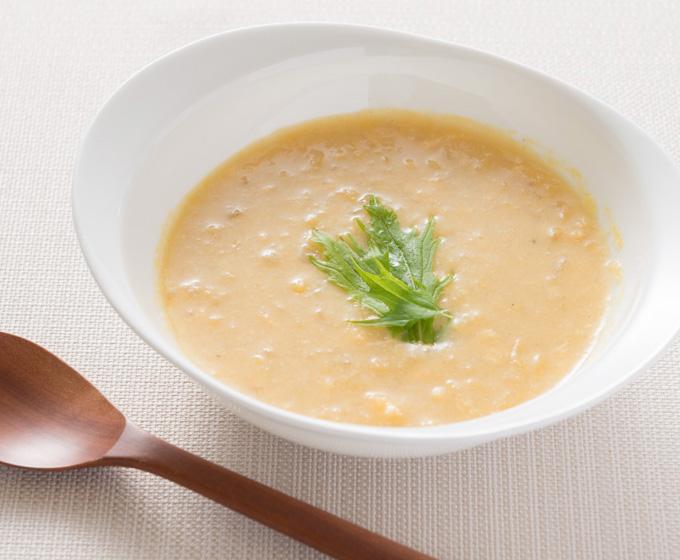 おからパウダーレシピ とうもろこしのとろり中華スープ